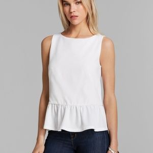 French connection exposed back peplum top